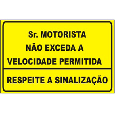 PLACA DE ADVERTÊNCIA