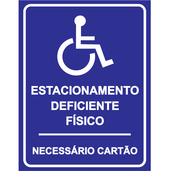 PLACA DE DEFICIENTE FÍSICO